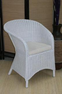 Surabaya white chair with cushion